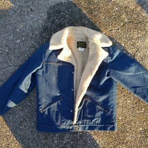 Vintage Wrangler Wrange Coat Sherpa Lined